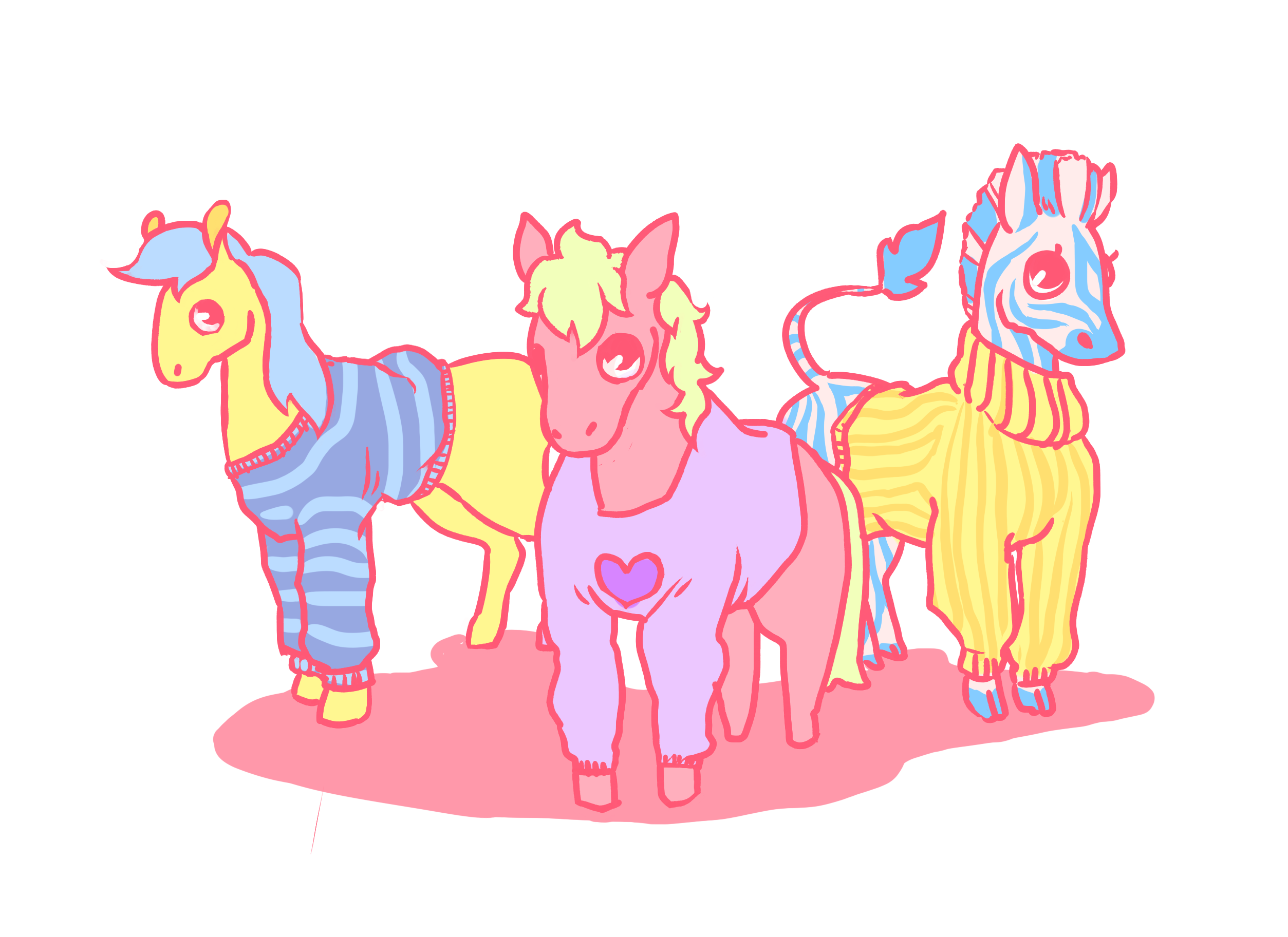 tiny horses (and one zebra)